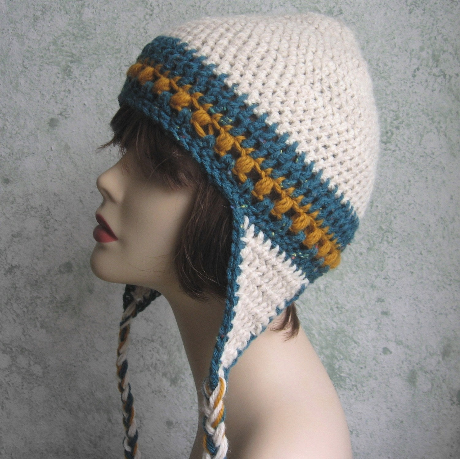 Womens Crochet Hat Pattern With Earflaps Instant Download Easy Etsy