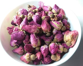 Organic Pink Rose Buds Dried