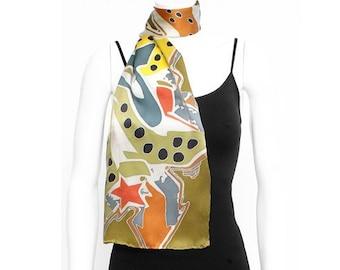 Pattern Silk Scarves