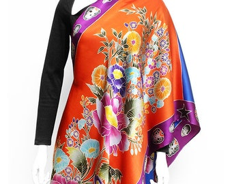 Flower Silk Scarves