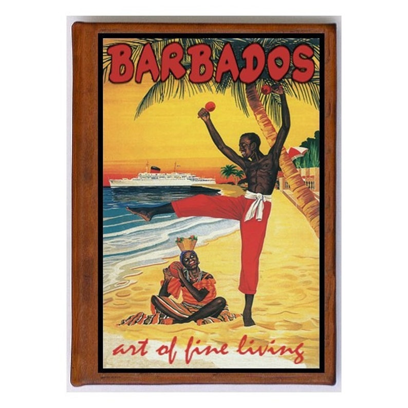Travel Art Free Shipping BARBADOS 1 Handmade Leather Photo Album