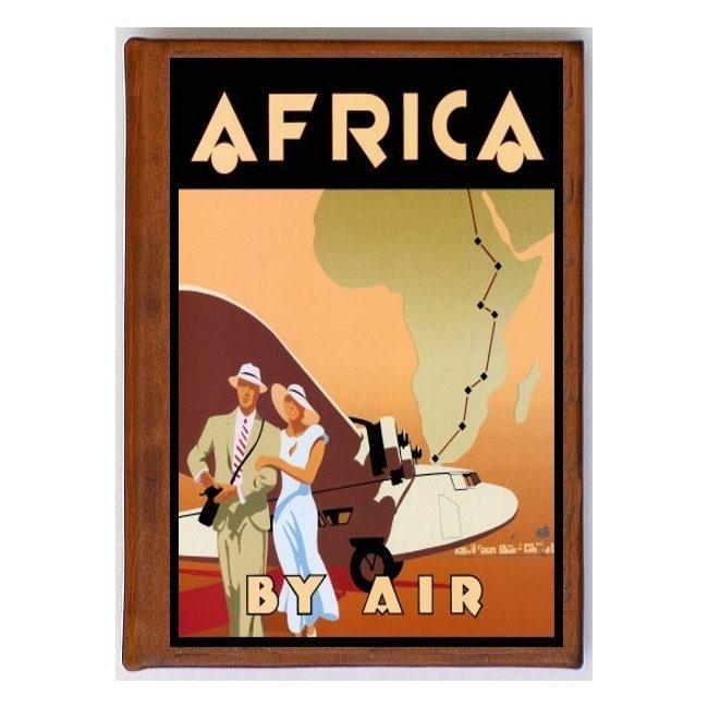 Afrique 4 - - 4 Album de photos à la main en cuir - voyage Art 59328b