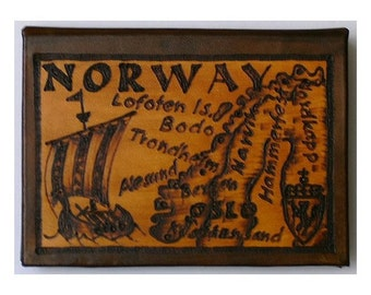 NORWAY - Leather Travel Photo Album - Handcrafted