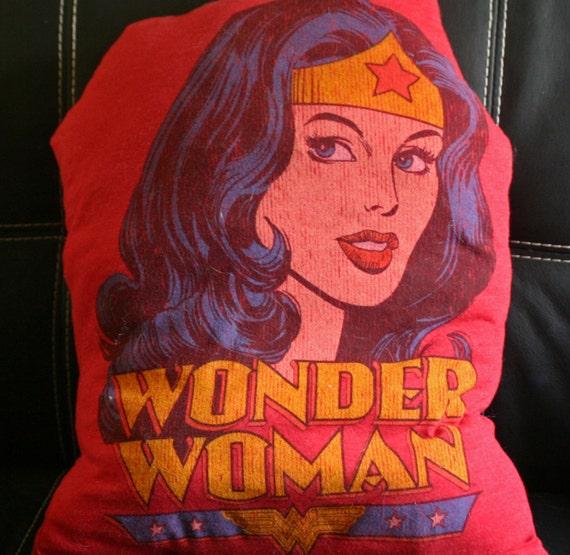 Wonder Woman Recycled Tshirt Pillow DC