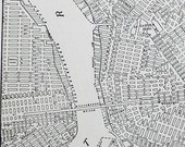 Original 1935 Antique Map of Brooklyn New York