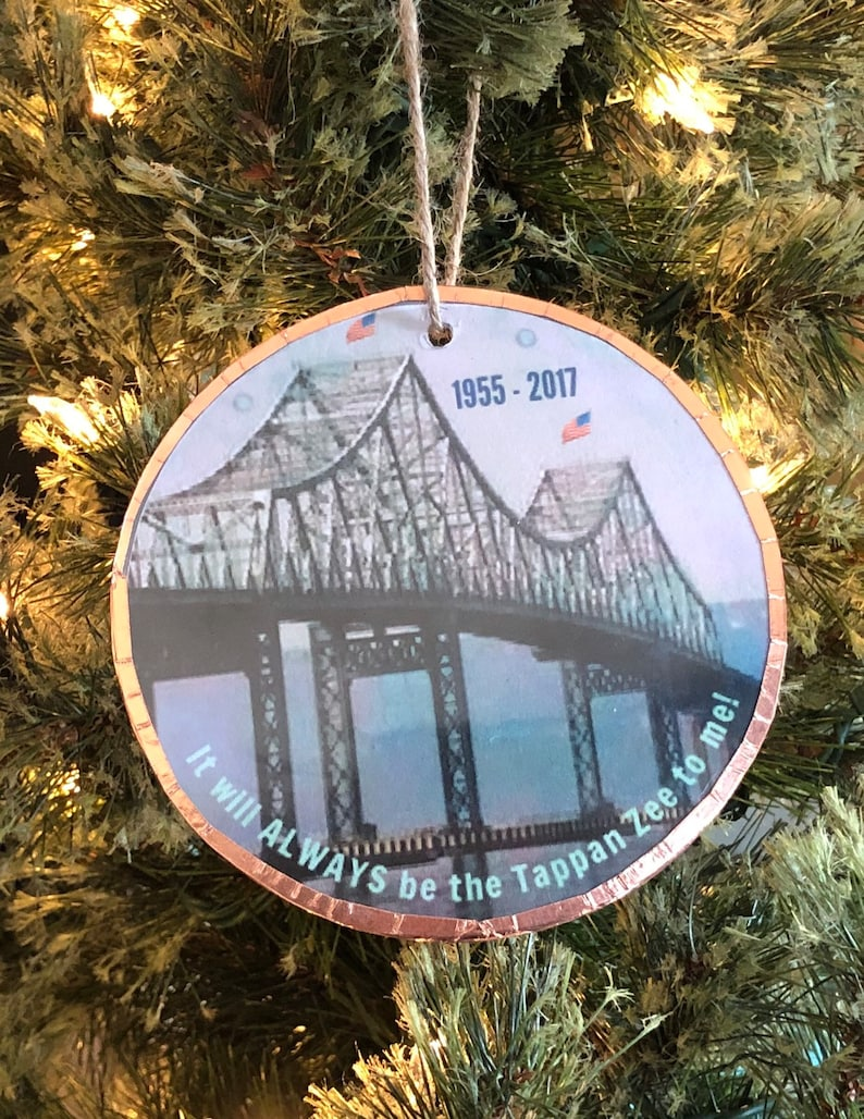 Tappan Zee Bridge New York Handmade Ornament image 0