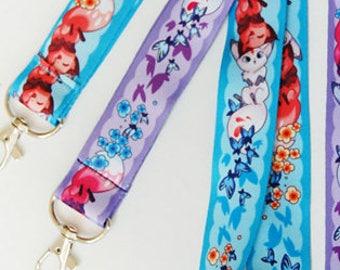 Floral Frolic Fox Kitsune Lanyards