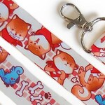 Shiba Inu Lanyard, Cockatiel Lanyard, Rude Dog and Birb Lanyard