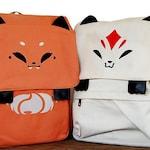 Fox Backpack, Kitsune Backpack, Orange Fox Backpack, Backpack with Ears, Fox Bag