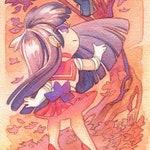 Sailor Moon Poster, Sailor Mars and Sailor Venus 8x24 Poster Print