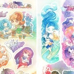 Sailor Moon Stickers, Sailor Scout Stickers, Sailor Moon Pets and Cosmic Love 4x9 Vinyl Gloss Laminated Sticker Sheets