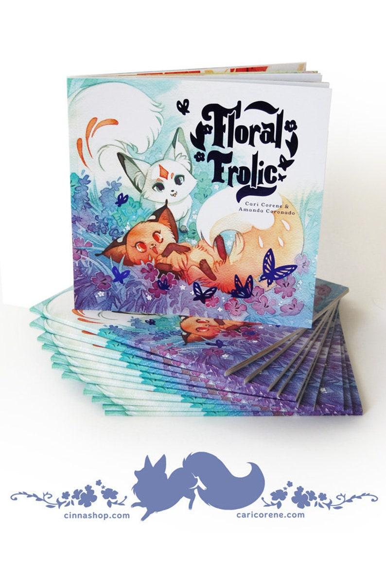 Floral Frolic Fox Children's Book Animal Children's image 0