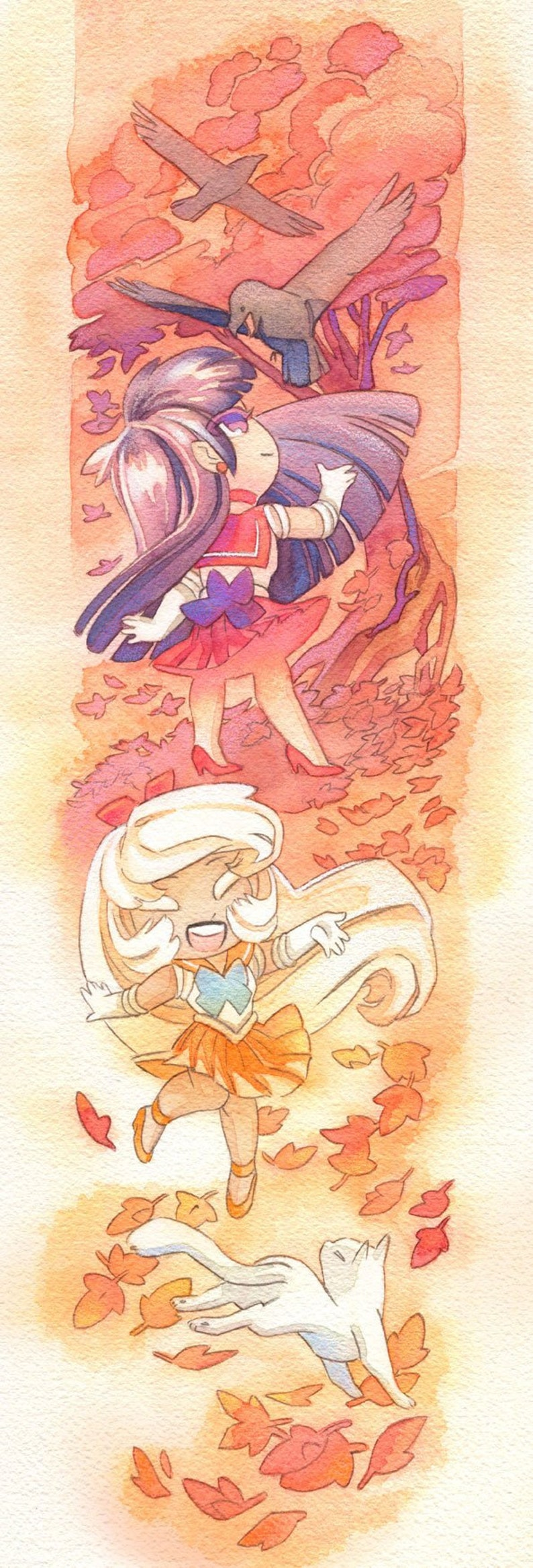 Sailor Moon Poster Sailor Mars and Sailor Venus 8x24 Poster image 0
