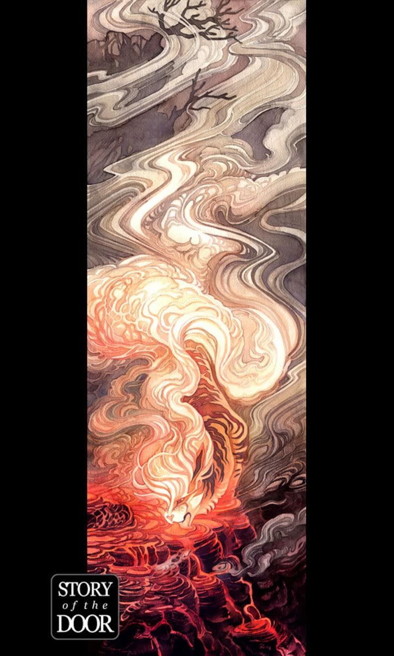 Pokemon Arcanine Growlithe Volcano Caldera Spirit 8x24 Poster image 0