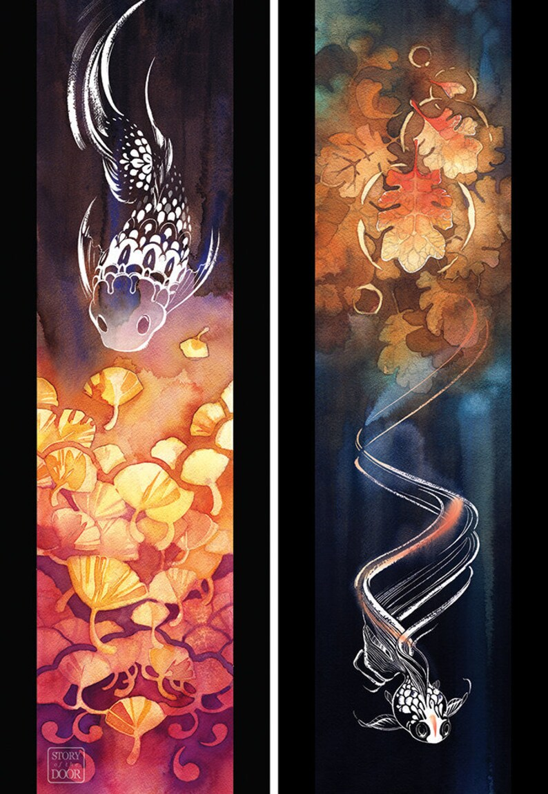Koi Print Koi Fish Art Watercolor Fish Koi Decor Fish Wall image 0