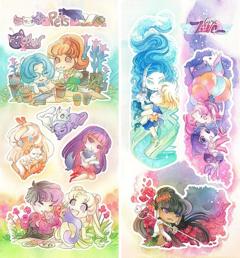 Sailor Moon Poster Print Glossy /& Laminated Picture
