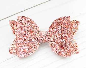 Red Gold Golden Beam Baby Girl Bows- Christmas Glitter Bow Headbands White and Silver Glitter Boutique Bow Handmade Headbands Red Girls Bows