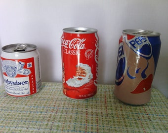 f0f2437c484 Collectible Coke Pepsi Budweiser Cans