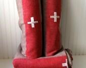 110 dollars- Pair of Swiss Army wool blankets