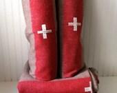 Vintage wool swiss army blanket
