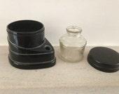 vintage art deco  - Moriset bakelite inkwell - black