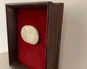 19th century antique framed plaster intaglio - italian - vintage - grand tour