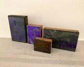 Set pf 4 - Vintage newspaper printers block -photo - metal and copperplate - cardinal landscape athlete victorian