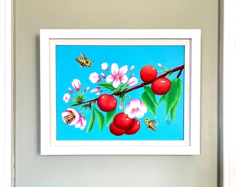 Busy Busy Bees- Original Framed Painting