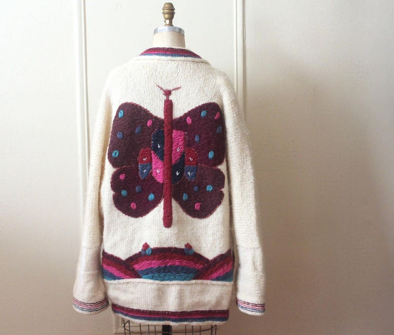 Oh butterfly vintage DOBRILA oversized super chunky  d7a028f70