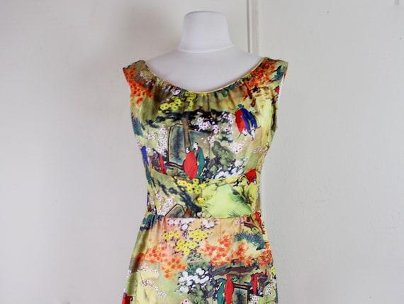 the Japanese Garden Dress, vintage 1970s Waltah Cl