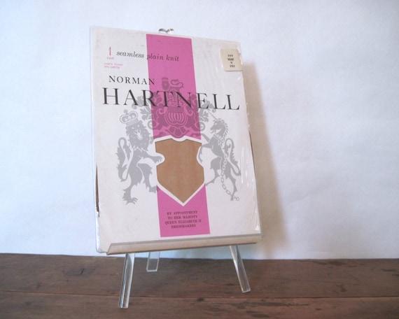 vintage pair of nylon stockings NORMAN HARTNELL, c