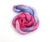 Embroidery floss, hand dyed, 20m skein - hot pink, light pink, lilac, lavender, mauve, blue