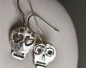 PMC Small Day of the Dead Earrings - Love me, Love me not