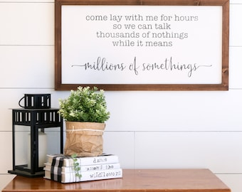 MILLIONS OF SOMETHINGS Farmhouse Style Rustic Wood Sign, Handmade, Shabby Chic