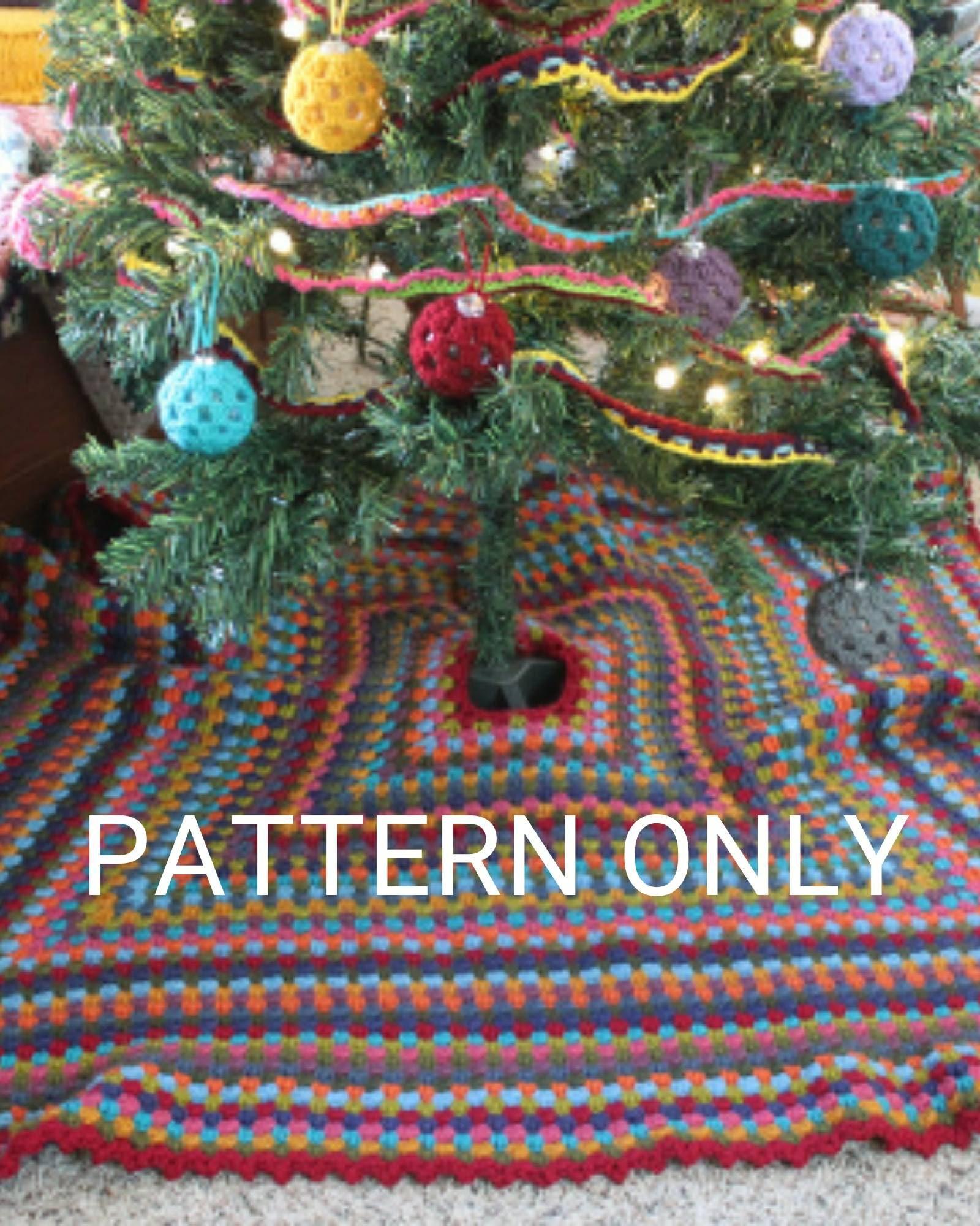 Crochet Pattern Granny Square Tree Skirt Etsy