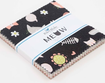 Meow By My Mind's Eye for Riley Blake 5 Inch Stacker 42 Pcs