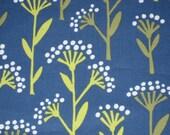 1 Yard Linden Blue Floral Dot Stems