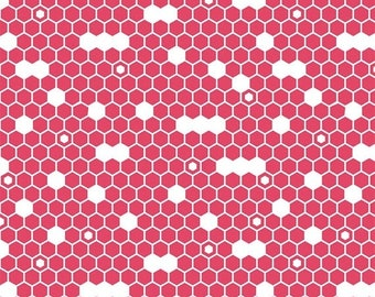 EXTRA 20 50% OFF Fine & Dandy Hexie Pink - 1/2 Yard