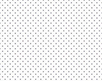 20% OFF Riley Blake Basic Lavender Swiss Dots on White