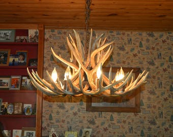 Antler chandelier etsy 30 inch real mule deer chandelier center down light 17 antler design 7 aloadofball Choice Image