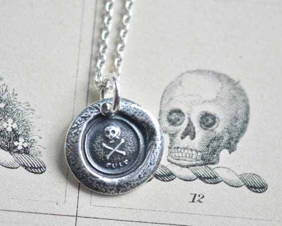 925 Sterling Silver Polished Antique finish Antiqued Crowned Skull Pendant