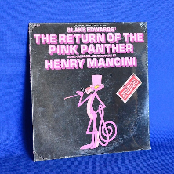 The Return Of The Pink Panther Motion Picture Soundtrack Vintage Vinyl Record Album C 1975 Unopened Full Color Poster