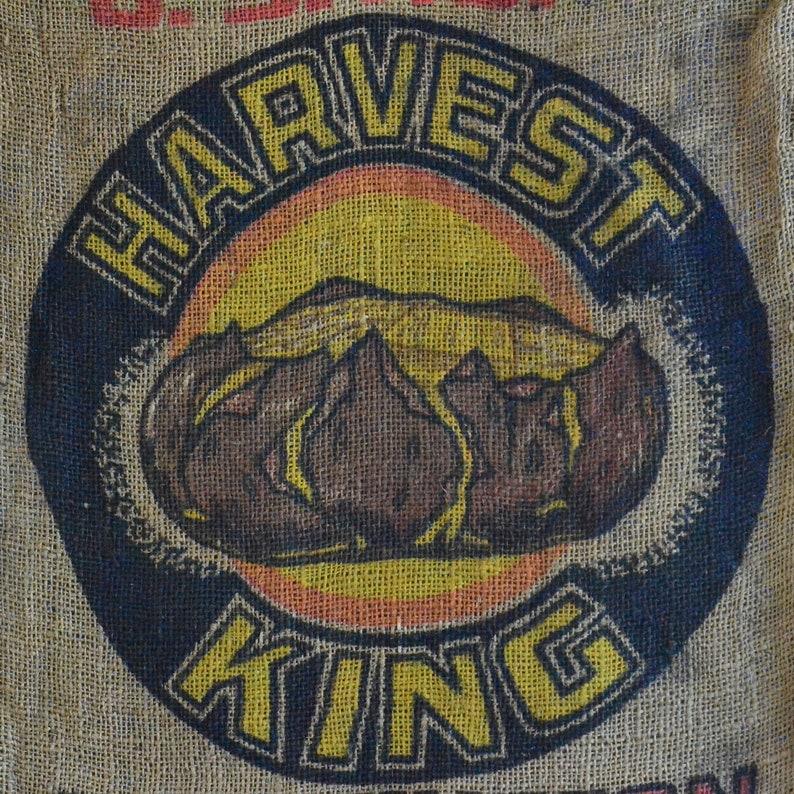 Frame-able Glade Connell Advertising Vintage Harvest King Washington Potato Burlap Sack Andrus /& Roberts -Sunnyside Gunny Sack