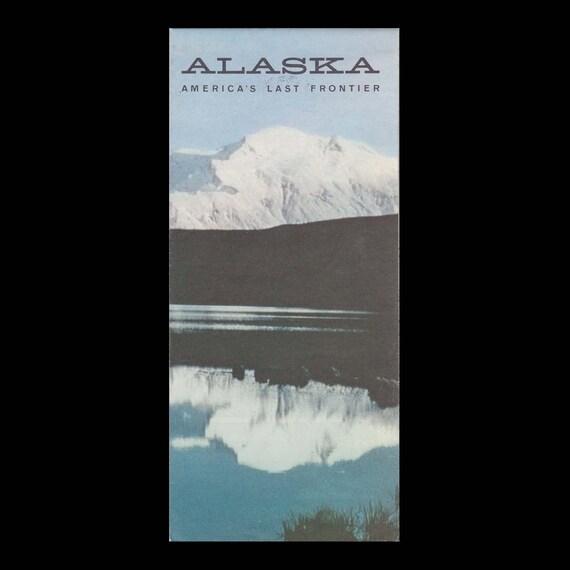 Alaska America\'s Last Frontier Map c. 1967