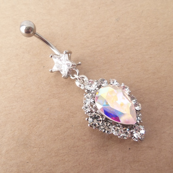 14 GA Golden Majestic Chandelier Belly Button Ring Sold Individually Gold Plated