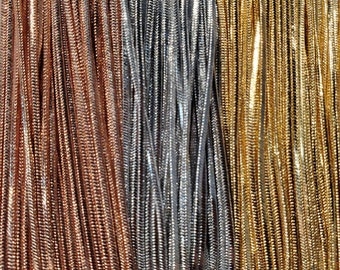 """Silver, Gold, or Rose Gold Plated Snake Chains in 16-18"""" 18-20"""" 20-22"""" Long"""