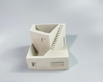 Cement city holder planter industrial style decor