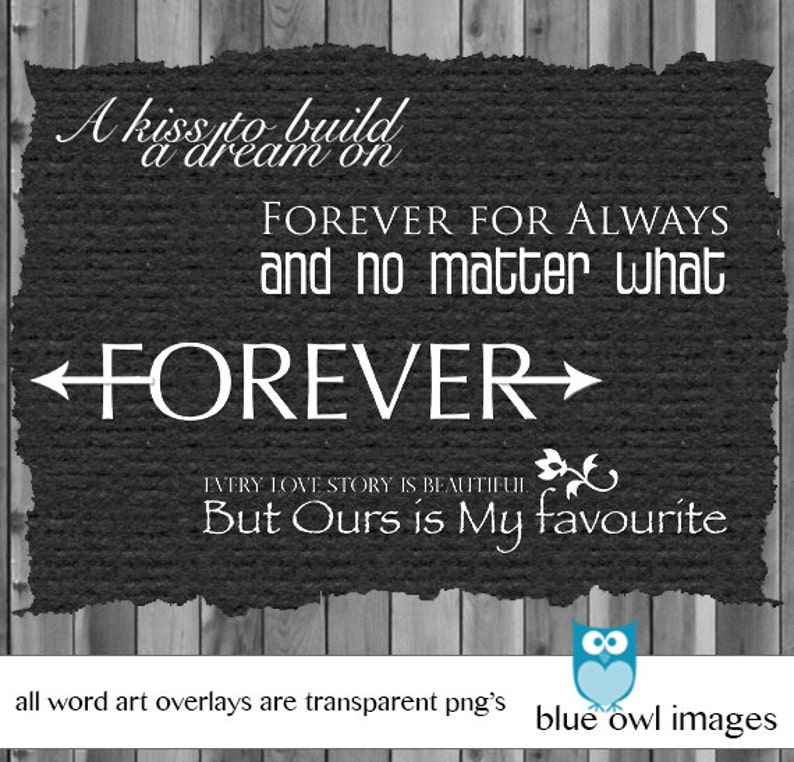 Word Quotes Photo Stamps Photoshop Overlay Digital Scrapbook Word Art Lover Series Photography Photo Prop Photography Love Words