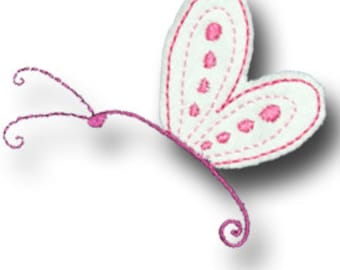 Rag edge Applqiue Butterfly 1 Designs -4x4 and 5x7 hoop sizes- INSTANT DOWNLOAD -