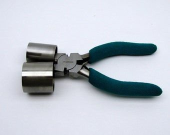 "Small Bracelet Making Pliers with 1"" and 1-3/8"" Barrels"
